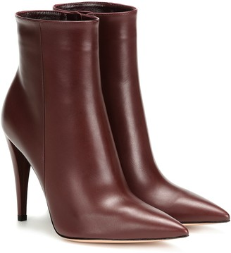 Gianvito Rossi Scarlet leather ankle boots