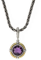 Effy Sterling Silver 18K Yellow Gold and Amethyst Pendant Necklace