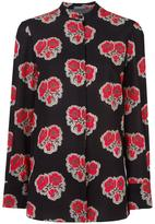 Alexander McQueen poppy print blouse - women - Silk - 42