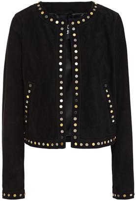Just Cavalli Studded Suede Jacket