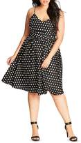 City Chic Polka Dot Dress