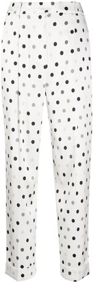 Ermanno Scervino High-Waisted Dotted Trousers