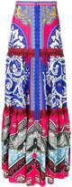 Mary Katrantzou printed tiered skirt