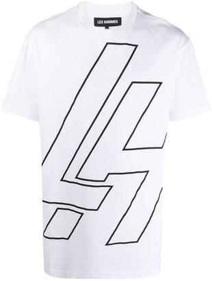 Les Hommes logo print short-sleeved T-shirt