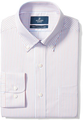 Buttoned Down Men's Classic Fit Button-Collar Non-Iron Dress Shirt