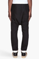 Rick Owens Black layered wool Drawstring lounge pants