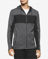 Calvin Klein Men's Zip-Front Colorblocked Hoodie, A Macy's Exclusive Style