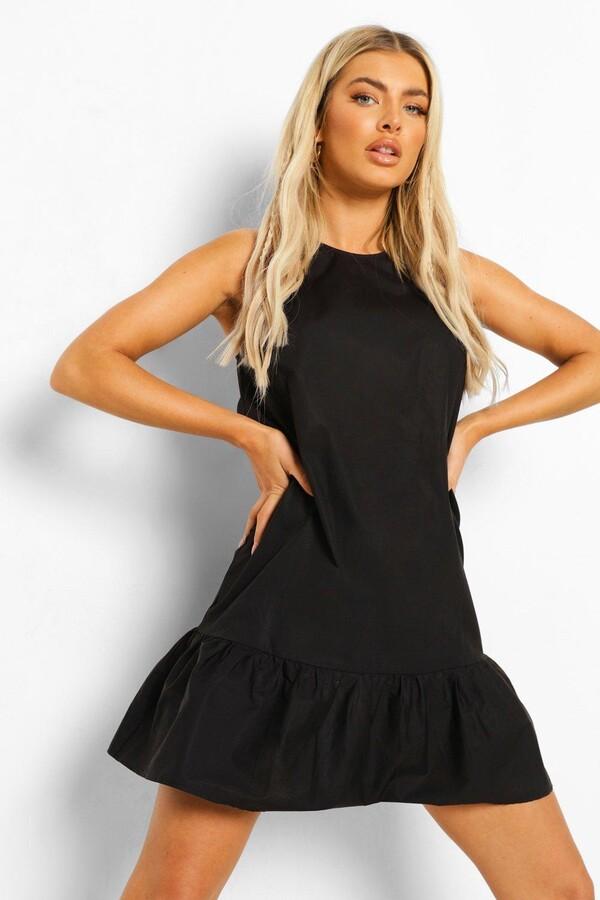 Thumbnail for your product : boohoo Cotton Frill Hem Shift Dress