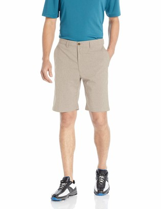 PGA TOUR Men's Flat Front Hybrid Heather Short