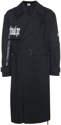 Yang Li Mid-Length Trench Coat
