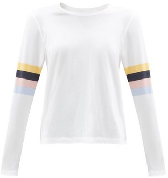 The Upside Emma Striped Cotton-jersey Long-sleeved T-shirt - White Multi