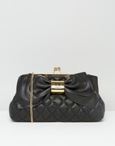 Love Moschino Quilted Bow Clutch Bag