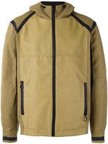Drome panelled hood jacket - men - Lamb Skin/Acetate/Viscose/Cotton - M