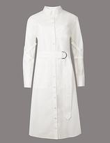 Autograph Pure Cotton Shirt Dress with Belt