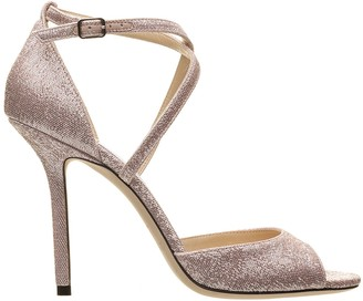 Jimmy Choo Emsy Metallic Fabric Sandals