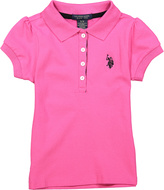 U.S. Polo Assn. Pink Peak Button-Front Polo - Toddler & Girls