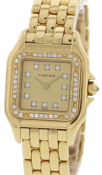 Cartier Panthere 8057915 18K Yellow Gold & Diamonds Quartz 22mm Womens Watch