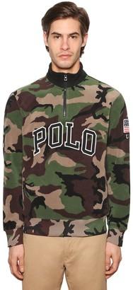 Polo Ralph Lauren Logo Zip-Up Camo Print Techno Sweatshirt