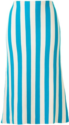 Sunnei Straight Striped Skirt