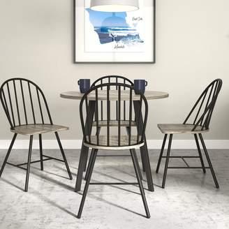 Novogratz Leo Farmhouse Round Dining Table & Chair 5-piece Set
