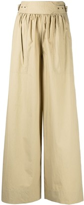 Ulla Johnson Belted Flared Trousers