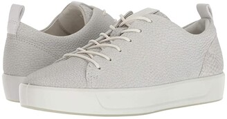 Ecco Soft 8 Sneaker (Wild Dove Cow Leather) Women's Lace up casual Shoes