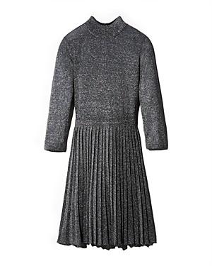 Ted Baker Noaleen Pleated Metallic Knit Mini Dress