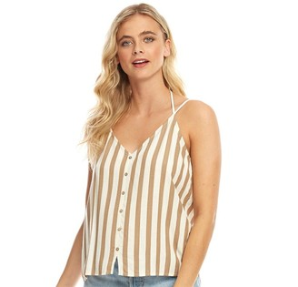 Only Womens Earth Strappy Top Cloud Dancer/Silver Mink