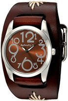Nemesis Women's 'Showgirl Series' Quartz Stainless Steel and Leather Automatic Watch, Color:Brown (Model: BBF109B)
