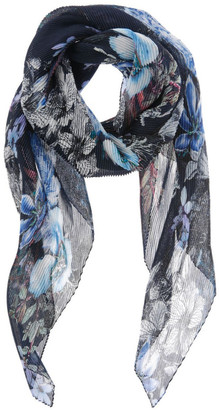 Innovare Made in Italy Floral Pleated Scarf