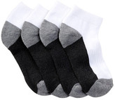 Joe Fresh Basic Sport Quarter Crew Socks - Pack of 4 (Little Kid & Big Kid)