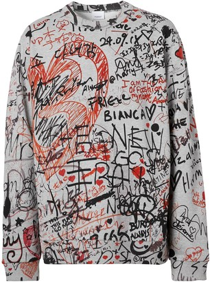 Burberry Graffiti-Print Cotton Sweatshirt