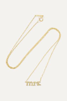 Jennifer Meyer Mrs 18-karat Gold Diamond Necklace - one size