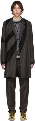 KIKO KOSTADINOV Purple Striped Furry Long Coat