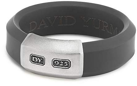 David Yurman Men's Hex Band Ring in Gray