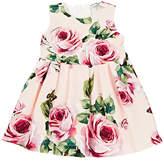 Dolce & Gabbana Infants' Rose-Print Stretch-Cotton Dress & Bloomers