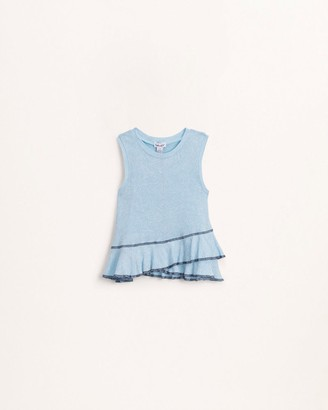 Splendid Little Girl Washed Ruffle Tank