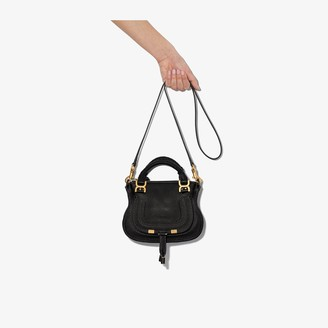 Chloé black Marcie small leather shoulder bag