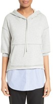 3.1 Phillip Lim Women's French Terry Combo Hoodie