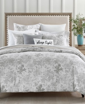 Charter Club Damask Designs Watercolor Leaf 300-Thread Count 2-Pc. Twin Comforter Set, Created for Macy's Bedding