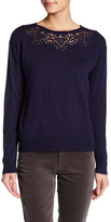 Joe Fresh Embroidered Knit Long Sleeve Sweater