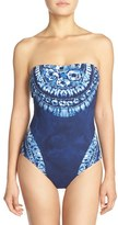 LaBlanca Women's La Blanca 'Moody Blues' Bandeau One-Piece Swimsuit