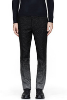 Raf Simons Black & white speckled ombre trousers