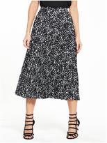 Very Mono Print Pleat Skirt