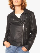 Jigsaw Clean Leather Biker Jacket