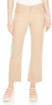 Sandro Joplin Cropped Wide-Leg Jeans in Sand