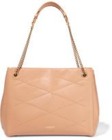 Lanvin Sugar Work Medium Quilted Leather Shoulder Bag - Sand