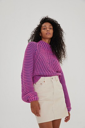 Levi's High Rise Cord Deconstructed Skirt