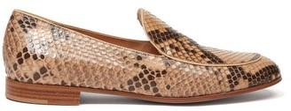 Gianvito Rossi Python Loafers - Womens - Beige Multi