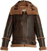 Balenciaga Le Bombardier shearling jacket